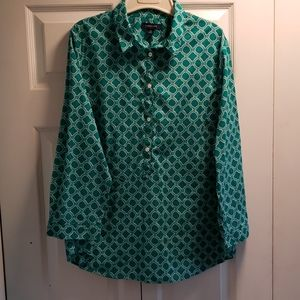 Lands End Blouse Size 16